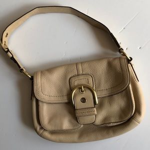 Coach cream leather handbag